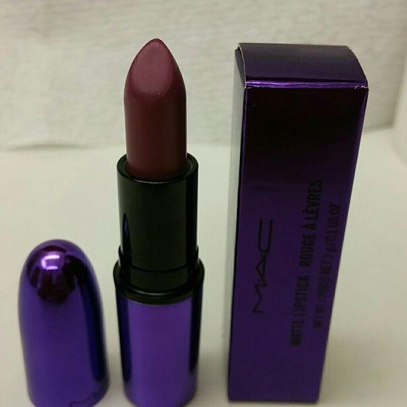 Mac cosmetics limited edition lipstick Only swatched. Evening Rendezvous - matte purple lipstick MAC Cosmetics Makeup Lipstick