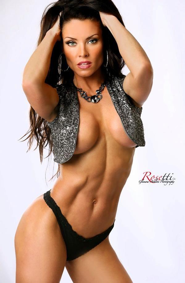 hottest nude athletic brunette