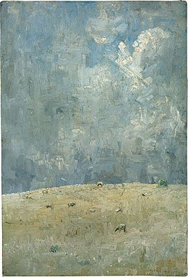 Arthur Boyd | Landscape with Grazing Sheep / 1937 / oil on canvas mounted on composition board