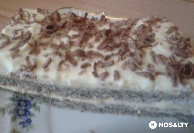 Cukormentes vaníliás-mákos sütemény