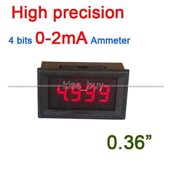 """0.36"""" 4 bits Digital Ammeter 0-2mA LED AMP Tester Meter Monitor Current test #Affiliate"""