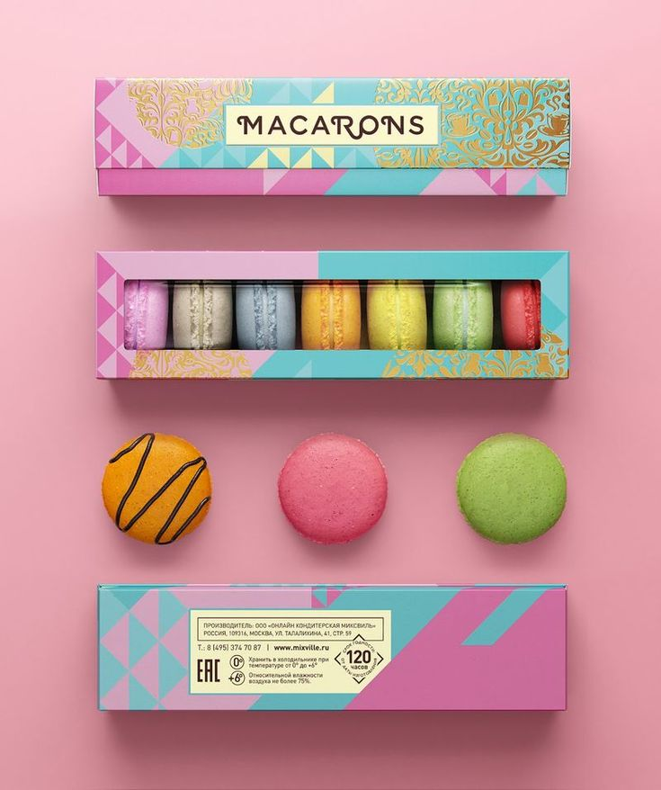 This Colorful Brand of Macarons Has a Whole New Look #design trendhunter.com