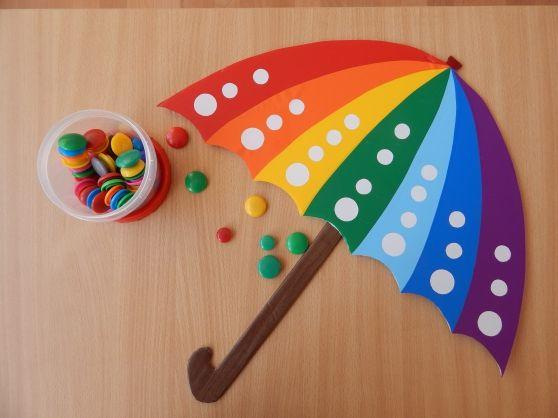 Дидактическая игра по сенсорному развитию «Зонтик» Фото