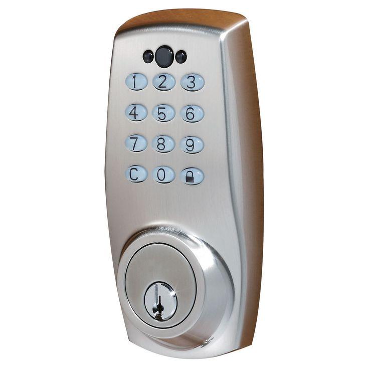 Sure-Loc Electronic Keypad Deadbolt Lock (Satin NIckel), Silver