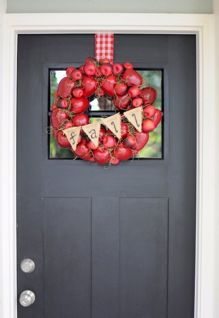 fall wreath on door