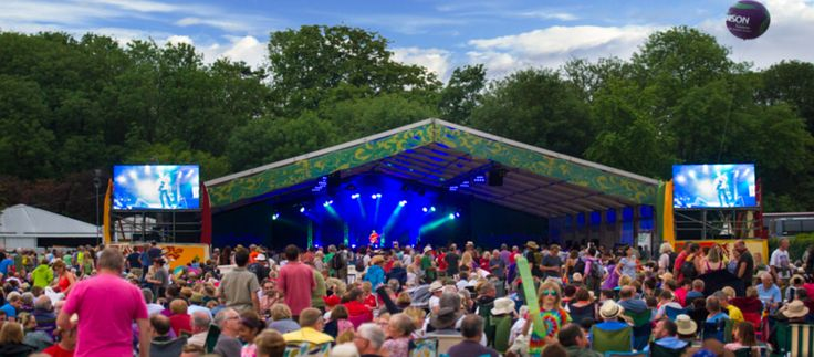 The Cambridge Folk Festival. A family friendly festival held in the beautiful surroundings of Cherry Hinton Hall.