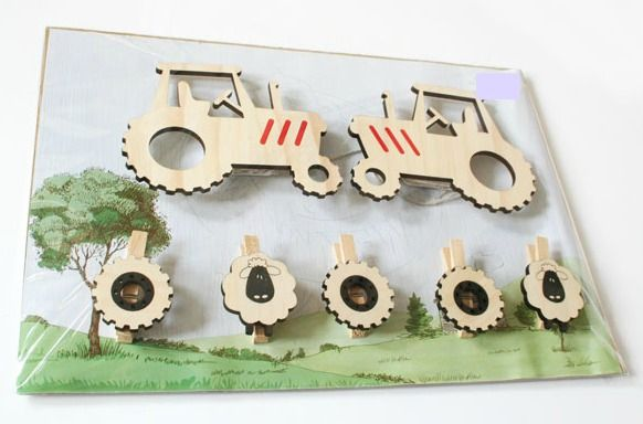 Our Tractor wall art pegs are the perfect way to display your child's masterpieces, favourite photos, notes etc  NZ$29.00 from Squoodles http://squoodles.co.nz/products/kids-wall-art-pegs/