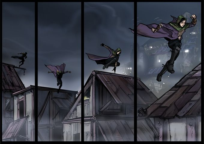 LAIKA on the rooftops of Akeron. From episode 1 of Ascent from #Akeron #submarinechannel #motioncomic #graphicnovel #animation Support us on #kickstarter