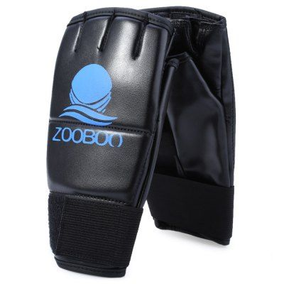 Zooboo 2PCS PU Leather Half Finger Boxing Fighting Gloves Suitable for Sanda Sandbag #men, #hats, #watches, #belts, #fashion, #style