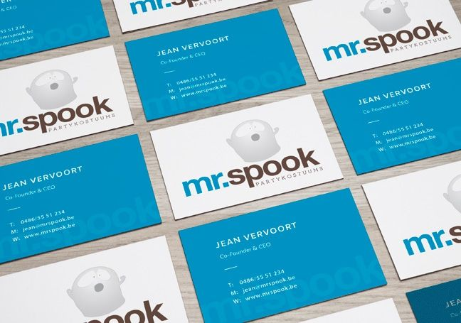 Naamkaartje Mr. Spook