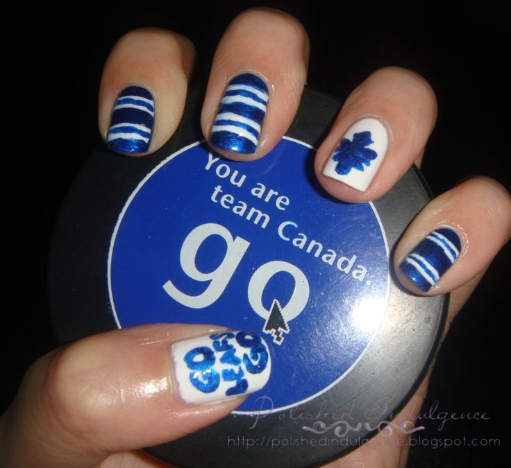 NHL Toronto Maple Leafs: Kessel's on a roll! Finally, a nail art design the hubby supports wholeheartedly. ;)