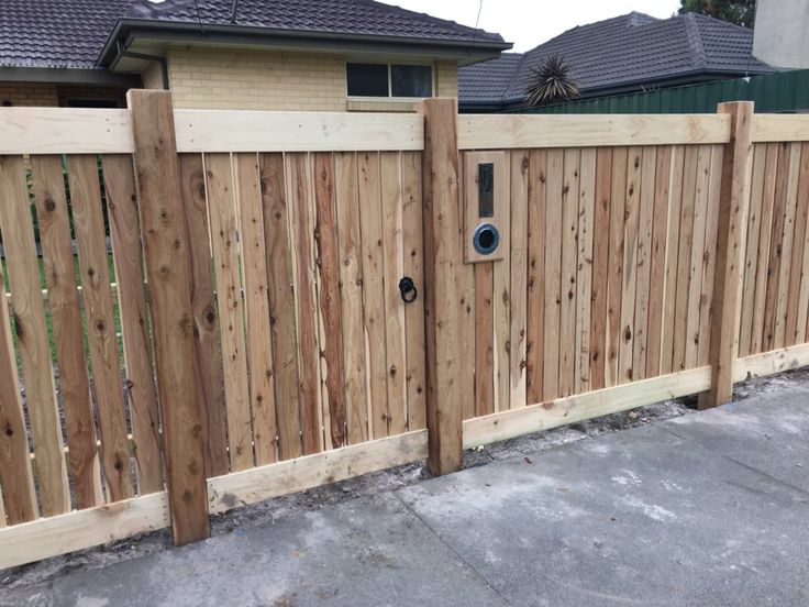 Front picket fence single gate, steel frame, pedestrian gate, ring latch