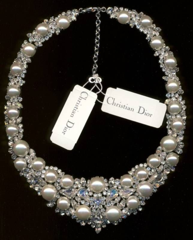 CHRISTIAN DIOR WEDDING NECKLACE