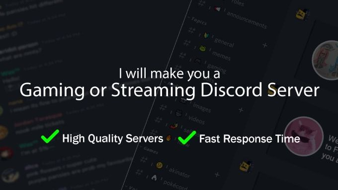 Jacobpanosky I Will Make A Gaming Or Streamer Discord Server For 10 On Fiverr Com In 2021 Discord How To Make Games