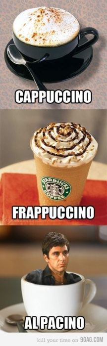 :D Many thanks to my sweet, fellow humour loving, DH for sending this funny image my way. #coffee #humour #funny #AlPacino