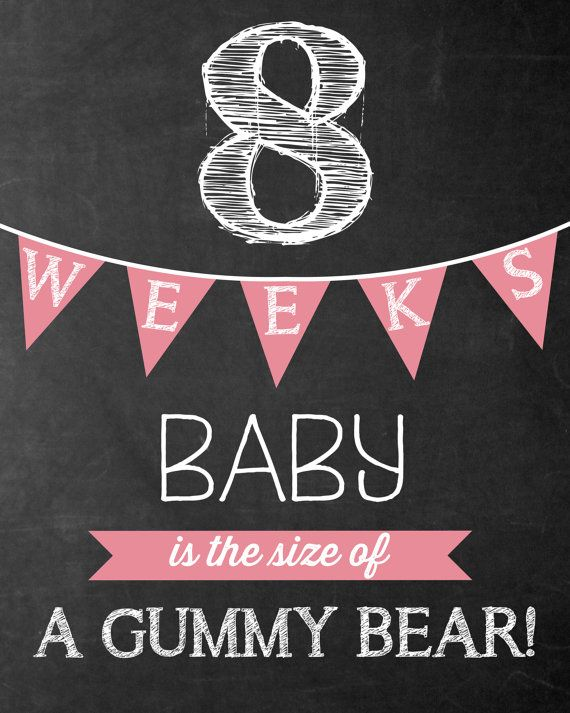 Weekly Pregnancy Chalkboard Sign Week 8-40 by TealOliveDesigns
