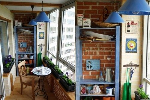 kapalı küçük balkon dekorasyonu