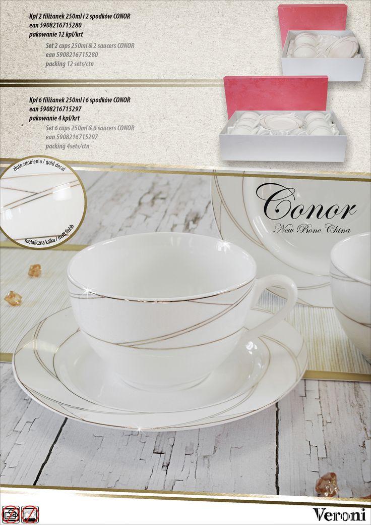 porcelana NBC CONOR kompllety 2+2 i 6+6  VERONI www.veroni.com.pl