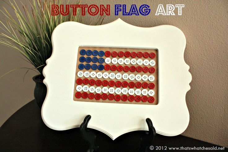Button Flag Art in FrameButtons Flags, Button Art, Crafts Ideas, Buttons Crafts, Flags Art, Buttons Art, Perler Beads, 4Th Of July, July 4Th