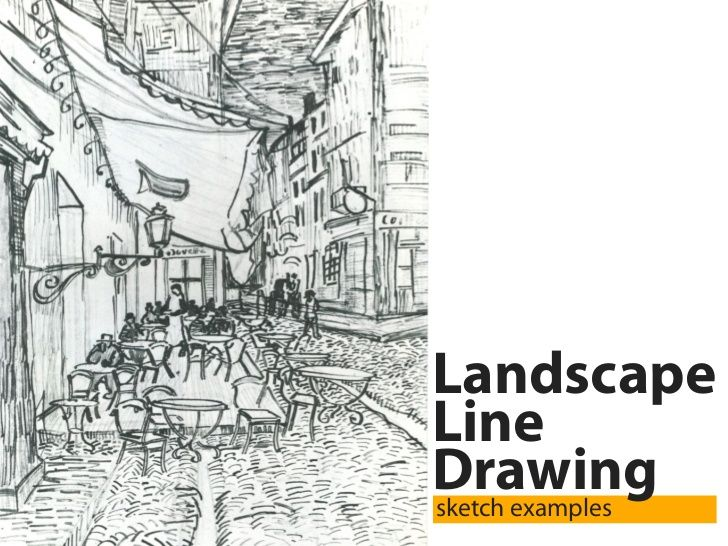Line Drawing Landscape : Best images about dessin paysage on pinterest