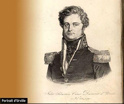 4- Portrait de Dumont d'Urville (1822 à 1840).- § DUMONT D'URVILLE: ....successivement sur l'Amazone, le Suffren, le Borée et la Ville de Marseille et parvint en 1812 au grade d'enseigne de vaisseau. Le 1° voyage de Dumont d'Urville eut lieu sur la Ville de Marseille, qui conduisit en 1814 le duc d'Orléans (Louis-Philippe 1°) à Palerme et qui l'en ramena avec sa famille. Il rencontre à Toulon Adèle Pépin, fille d'un horloger de la Marine, originaire de Cluses en Haute-Savoie, qu'il épouse…