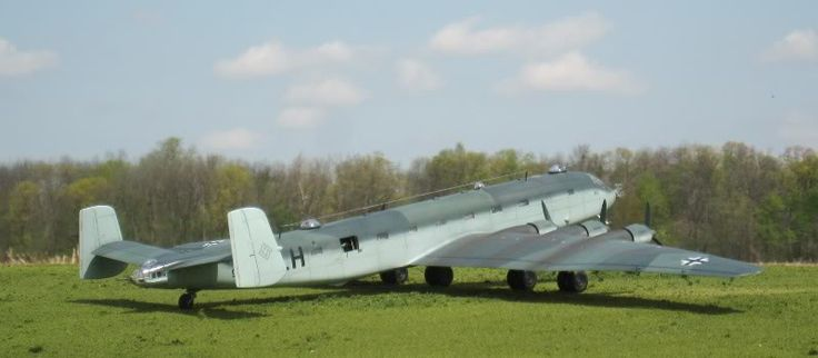 The model of JU 390 V2, converted from two Revell of Germany Ju 290s: