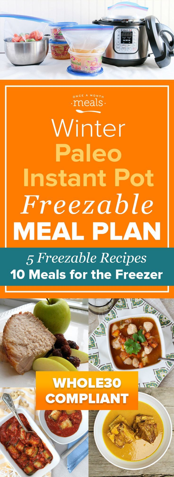 Prepare for your next Whole30 by stocking up on easy Whole30 compliant freezer meals to ensure your success! This Winter Paleo Instant Pot Mini Menu features saucy Turkish Short Ribs, Curried Pork Chops, and Lasagna Roll-ups that can go straight from the