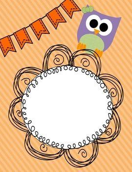 Owl Binder Label