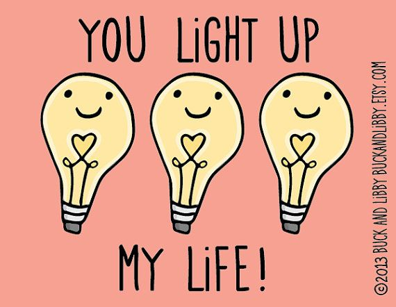 You LIght Up My Life 8.5 x 11 Illustration Print by BuckAndLibby