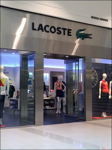 Lacoste Store Entry Branding