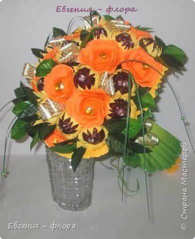 Свит-дизайн 8 марта День матери Моделирование конструирование Апельсиновое настроение Бумага гофрированная фото 1