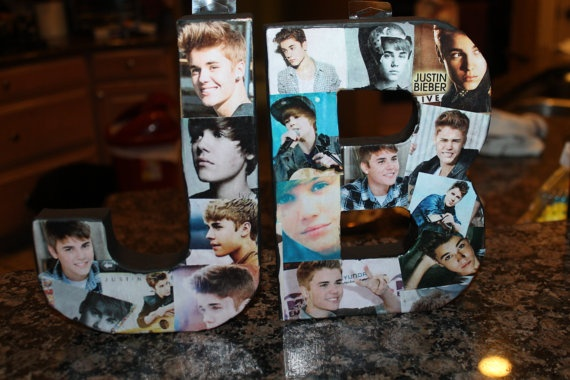 Justin Bieber Picture Collage by TeenageDreamm on Etsy, $20.00
