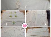 Скатерть из натуральный ткани круглая