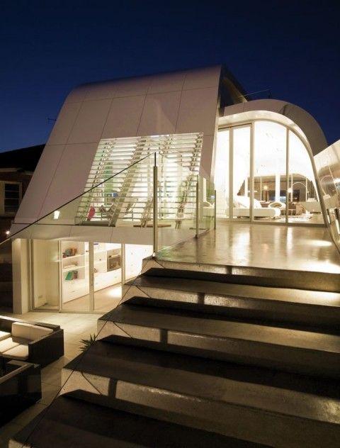 Fachada de Casa Futurista