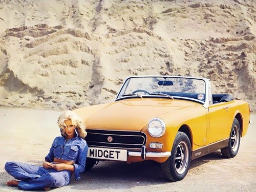 "1969 MG Midget ... so named because you had to be 5' 4"" or less to fit behind the steering wheel."