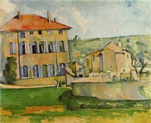 House and Farm at Jas de Bouffan - Paul Cézanne - www.atelier-cezanne.com