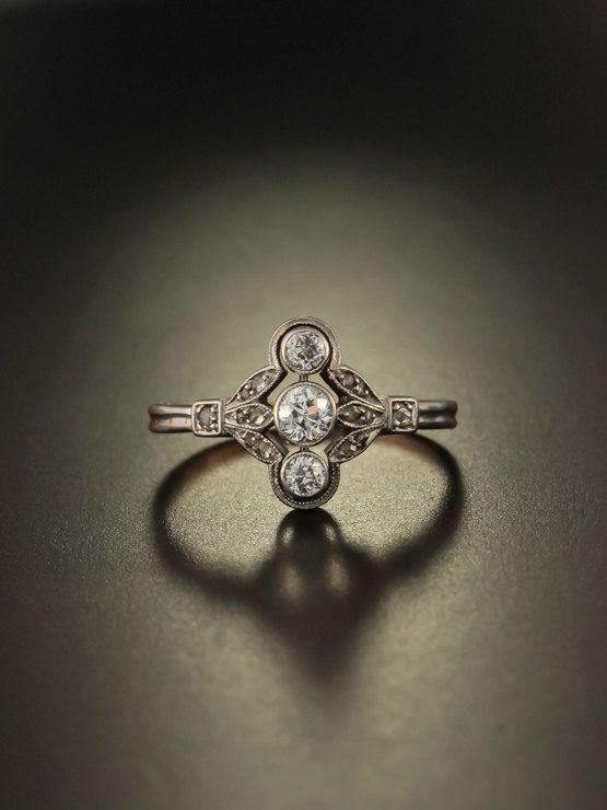 on hold Genuine Art Deco diamond dramatic by AntiqueVelvetGloves