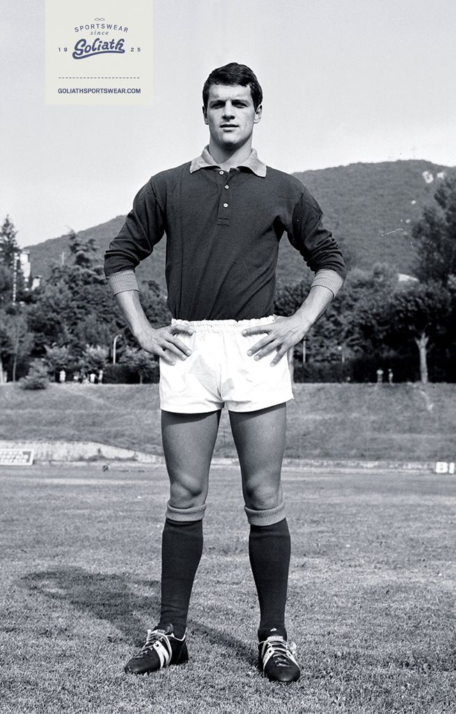 Italian football trainer slash player Fabio Capello wearing his Goliaths way back in the days! #goliath #sportswear #history