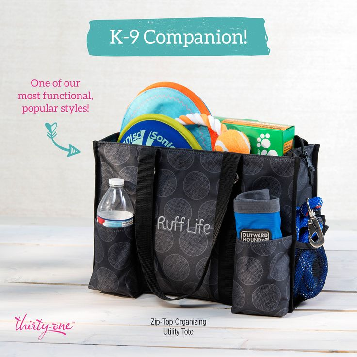 Zip-Top Organizing Utility Tote Perfect for your K9 Companion Supplies!www.mythirtyone.com/brendakrause