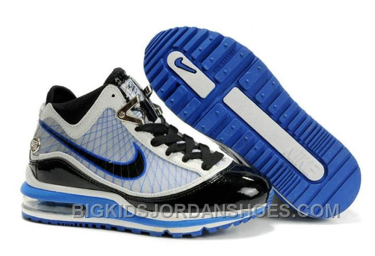 http://www.bigkidsjordanshoes.com/nike-air-max-lebron-vii-kids-white-blue-black-cheap-442500.html NIKE AIR MAX LEBRON VII KIDS WHITE BLUE BLACK CHEAP 442500 Only $85.00 , Free Shipping!