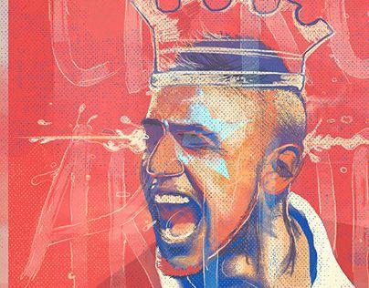 "Check out new work on my @Behance portfolio: ""Ases de America - El Rey Arturo ""VIDAL"""" http://on.be.net/1v6ypcS"