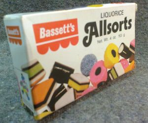 1970's Vintage Bassett's Liquorice Allsorts Box #bassett's #liquorice #allsorts #sweets #1970s