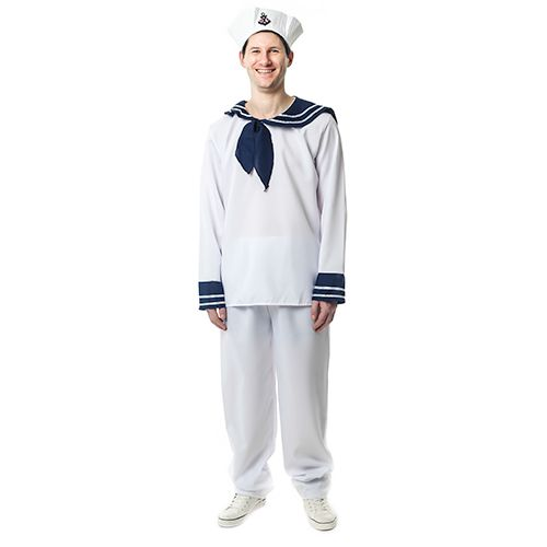Brilliant stag night sailor outfit complete with top, trousers, neck tie and hat, everything an old - Was £19.99, now £17.99. Next day delivery available up to 4pm
