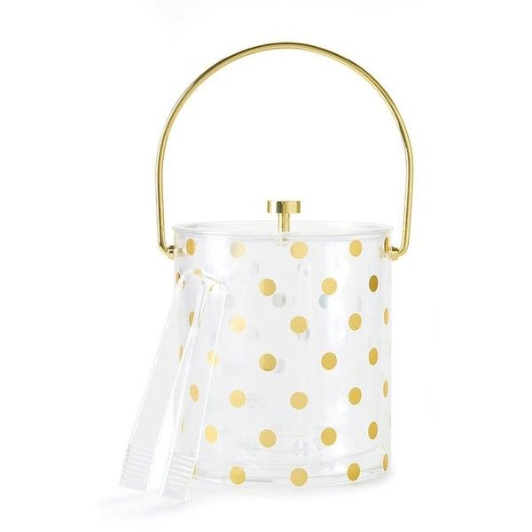 Kate Spade Acrylic Ice Bucket And Tong Set Polka Dot (3,695 INR) ❤ liked on Polyvore featuring home, kitchen & dining, bar tools, kate spade, ice bucket and tongs, ice wine chiller, acrylic bar cart and ice tongs