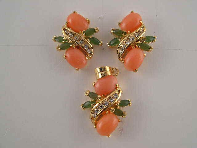 Pink Corals Earrings, Coral Roses & Tulips