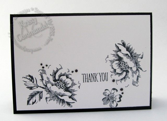 """This Stamp set """"Stippled Blossom"""" is a two-step stamp set where you can layer each image 'solid' and 'outline' image on top of each other to create a fuller effect. In my card today I've just used the outline image. video tutorial can be found on blog"""