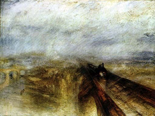 William Turner; Pioggia, vapore e velocità; 1844; olio su tela; National Gallery, Londra.