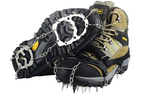 Ravifun Ice Cleats Snow Spikes Crampons For Winter Walking Ice Cleats Boots Kids Boots