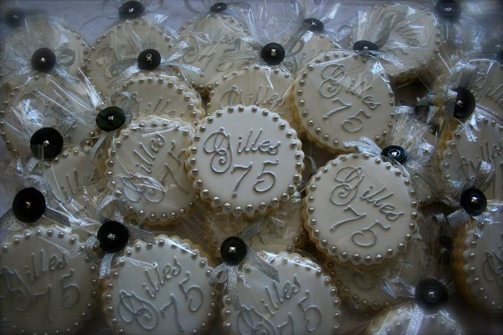 75th birthday party favor   Cookie Connection