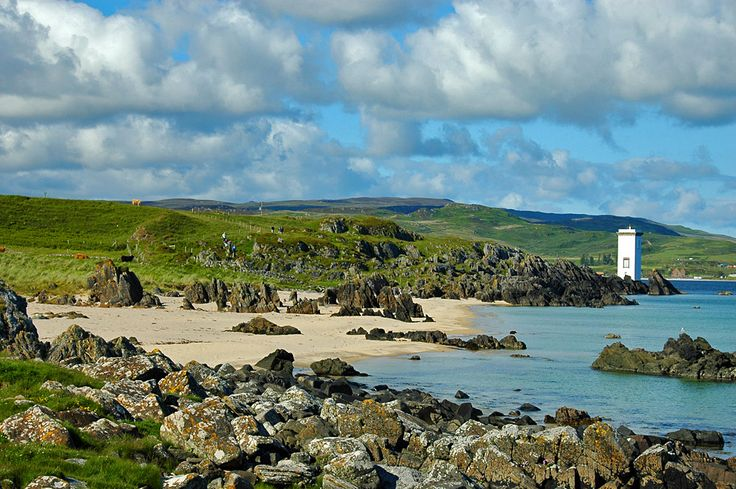 The Singing Sands and Carraig Fhada lighthouse, Isle of Islay
